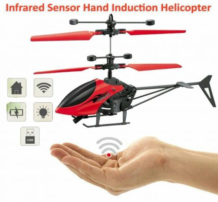 Induction Aircraft - Multicolour, Hand induction / Gravity Sensor, and Rechargeable Flying helicopter