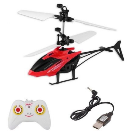 Induction Aircraft with remote - Multicolour, Hand induction / Gravity Sensor, and Rechargable Flying helicopter with remote