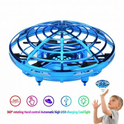 UFO Flying Drone Induction Toy with Hand Induction / Infrared Sensor Control With 360° Rotating feature with colorful LED Lights